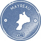 Mayreau map vintage stamp Retro style handmade label badge or element for travel souvenirs Light