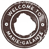 MarieGalante map vintage stamp Retro style handmade label badge or element for travel souvenirs