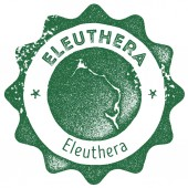 Eleuthera map vintage stamp Retro style handmade label badge or element for travel souvenirs Dark