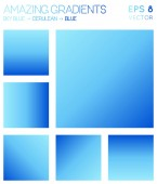 Colorful gradients in sky blue cerulean blue color tones Admirable gradient background radiant