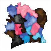 Map of Ivory Coast Colourful watercolor Ivory Coast map Cute country vector illustration