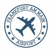Frankfurt am Main Airport logo Airport stamp vector illustration FrankfurtamMain aerodrome