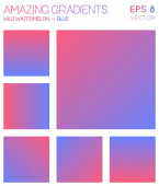 Colorful gradients in wild watermelon blue color tones Adorable gradient background energetic