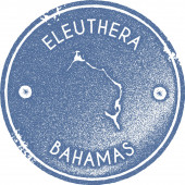 Eleuthera map vintage stamp Retro style handmade label badge or element for travel souvenirs