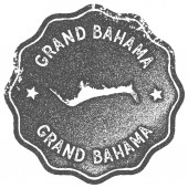 Grand Bahama map vintage stamp Retro style handmade label badge or element for travel souvenirs