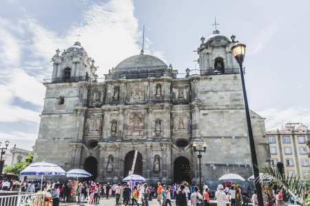 Oaxaca, Oaxaca / Mexico - 21/7/2018: (Cathedral in downtown Oaxaca Mexico)