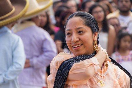 Oaxaca, Oaxaca / Mexico - 21/7/2018: (Indigenous people celebrating the traditional Guelaguetza in Oaxaca Mexico)