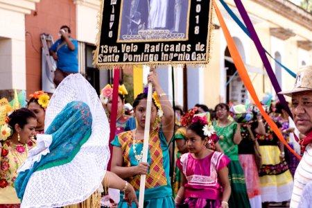 Oaxaca, Oaxaca / Mexico - 21/7/2018: (Detail of traditional Guelaguetza celebration in downtown Oaxaca Mexico )