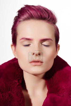 Photo pour Makeup, portrait spa natural beautiful emotion - image libre de droit