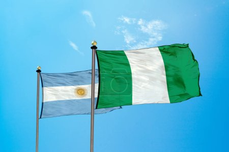 Nigeria vs Argentina - Flag on the mast