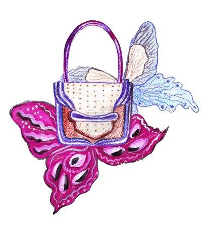 Photo pour Dessin à la main d'un croquis au crayon d'accessoires de mode pour femme : chaussures - image libre de droit