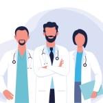 Doctors and nurses cartoon characters medical hosp...