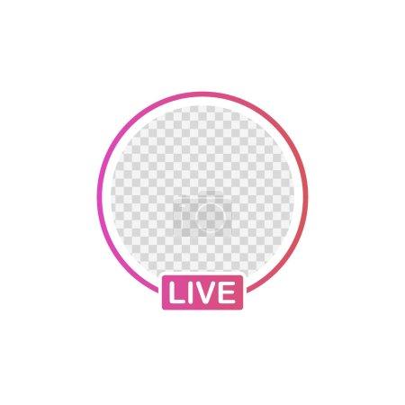 Illustration pour Image avatar icône des médias sociaux. Histoires en direct streaming vidéo utilisateur. Illustration vectorielle . - image libre de droit