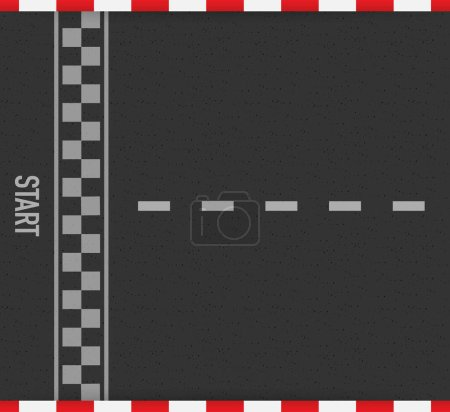 Rally races line track or road marking. Car or kar...