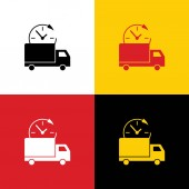 Delivery sign illustration Vector Icons of german flag on corresponding colors as background