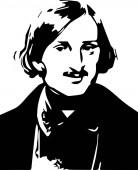 portrait of Nikolai Gogol of the Russian writer