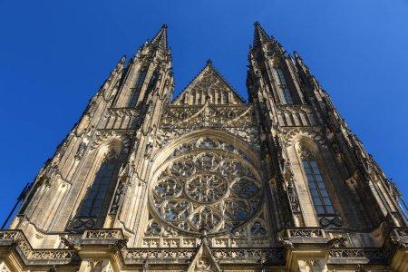 Photo pour République tchèque, Prague, Cathédrale Saint-Vitus , - image libre de droit