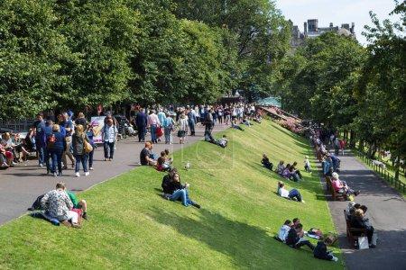 Photo pour Écosse, Princes Street Gardens, Édimbourg . - image libre de droit
