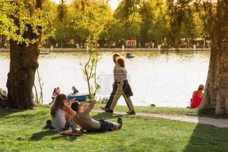 Photo pour Espagne, Madrid, Parque Del Buen Retiro - image libre de droit