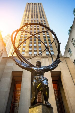 Photo for Atlas sculpture at the Rockefeller Center in New York city - Royalty Free Image