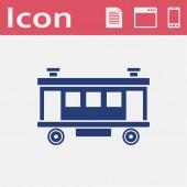 Railroad Car vector icon