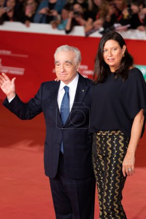 "Photo for Rome Italy. 21 October 2019. Martin Scorsese and Emma Tillinger Koskoffl, walk on the red carpet ""The Irishman"" during the 14th Rome Film Festival. Credit: Gennaro Leonardi / Alamy Live News - Royalty Free Image"