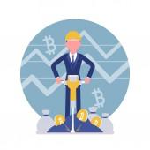 Bitcoin minig man business