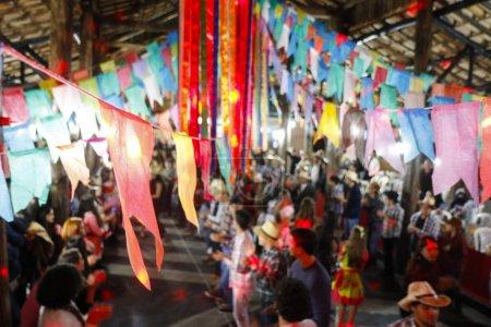 Oliveira, MG/Brasil - 2018-06-09: Students participate in dance during Festa Junina in Minas Gerais, Brazil.