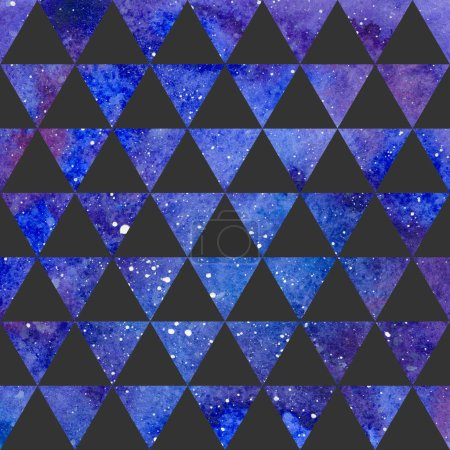 Triangles pattern on space texture, abstract background. Geometrical simple illustration
