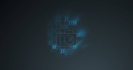 Photo for Abstract grid shape background. 3D rendering - Royalty Free Image