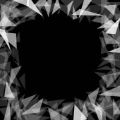 background black hole with translucent triangles