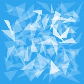 blue background with translucent triangles