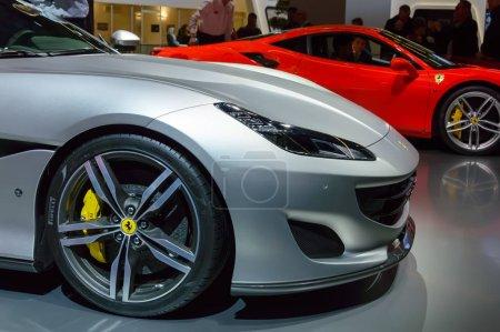 Ferrari Portofino sports car closeup