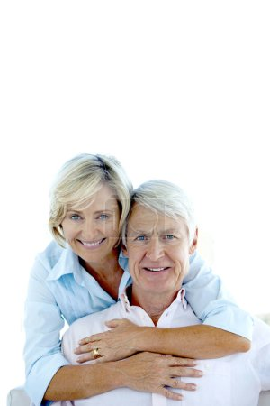 Photo for Senior Caucasian couple together at home - Royalty Free Image