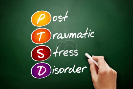 Photo for PTSD - Posttraumatic Stress Disorder, acronym concept background - Royalty Free Image
