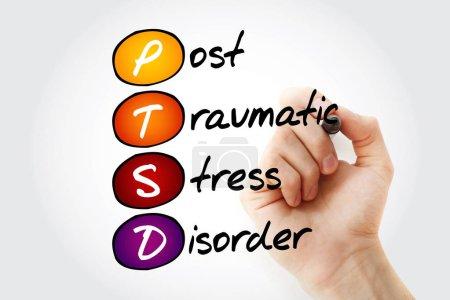 Photo for PTSD - Posttraumatic Stress Disorder, acronym concept backgroun - Royalty Free Image