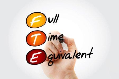 Photo pour ETP - Équivalent temps plein acronyme avec marqueur, contexte du concept d'entreprise - image libre de droit