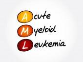 AML - Acute Myeloid Leukemia acronym health concept background
