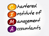 CIMA - Chartered Institute of Management Accountants acronym business concept background
