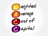 WACC - Weighted Average Cost of Capital acronym business concept background