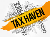 Tax Haven word cloud collage