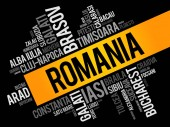List of cities in Romania word cloud