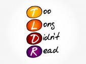 TLDR - Too Long Didn't Read acronym