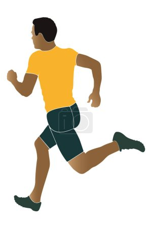Photo for Man runner running sprinter South African coloured silhouette - Royalty Free Image