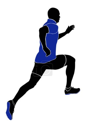 Photo for Athlete sprinter runner running in sports clothing and racing track spike - Royalty Free Image