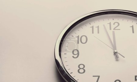 modern wall clock on white background