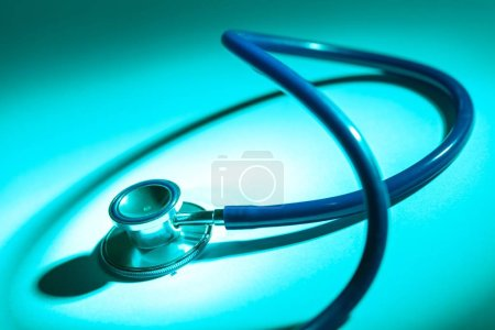 Medical doctor's stethoscope on  background