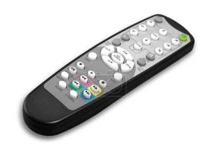 Isolated remote remote control television white black photography
