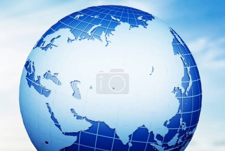 Globe earth world map planet sphere blue cartography