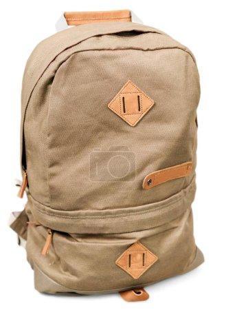Photo pour Sac à dos sac à dos sac à dos sac isolé toile de randonnée - image libre de droit